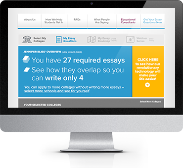 college application essay organizer
